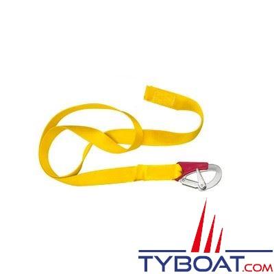 Longe simple Plastimo pour gilets gonflables et harnais 1 mousqueton double sécurité - longueur 2 m.