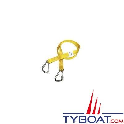 Longe simple Plastimo pour gilets gonflables et harnais 2 mousquetons - longueur 2 m.