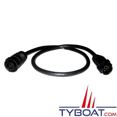 LOWRANCE - Câble adaptateur sonde connecteur noir 9 Pin vers appareil connecteur bleu 7 Pin