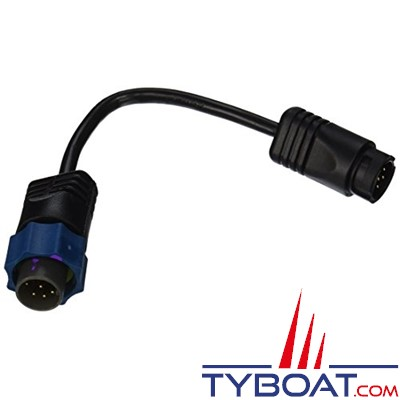 LOWRANCE - Câble adaptateur TA-UQ2BL-T - Pour sonde avec connecteur Uniplug - Prise bleue