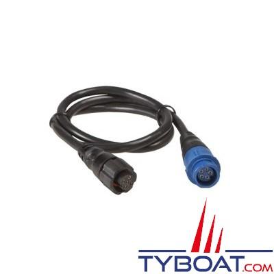LOWRANCE - Câble adaptateur TA-BL2U - Pour sonde connecteur bleu sur appareil UNIPLUG