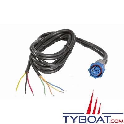 LOWRANCE - Câble d'alimentation PC-31BLN - Pour BroadBand sondeurs BSM-1/LBS-1/LSS