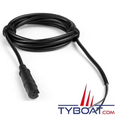 Lowrance - Câble d'alimentation pour Hook², Reveal et Cruise