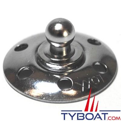 LOXX - TENAX base mâle en laiton nickelé pour tissus Ø 18mm - vendu par 10