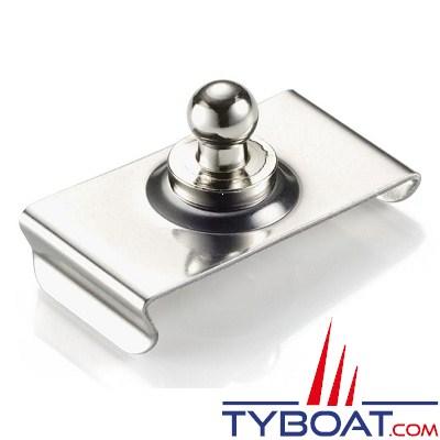 LOXX - TENAX bouton mâle pare brise en laiton chromé 24 mm - vendu par 10
