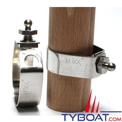 LOXX - TENAX Bouton mâle pour balcon inox de Ø 25 mm - M6 x 8 mm