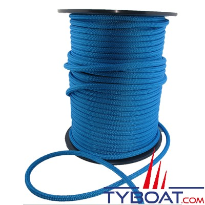 MaloMotion - Cezembre cordage Polyester 24 Fuseaux - Ø 10 mm - Bleu (au mètre)