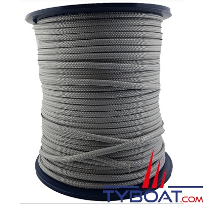 MaloMotion - Cezembre cordage Polyester 24 Fuseaux - Ø 10 mm - Gris (au mètre)
