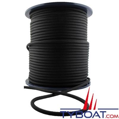 MaloMotion - Cezembre cordage Polyester 24 Fuseaux - Ø 10 mm - Noir (au mètre)