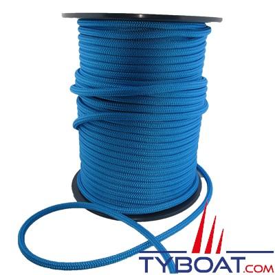 MaloMotion - Cezembre cordage Polyester 24 Fuseaux - Ø  4 mm - Bleu (au mètre)