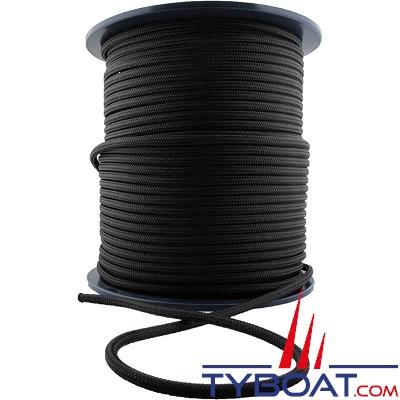 MaloMotion - Cezembre cordage Polyester 24 Fuseaux - Ø  4 mm - Noir (au mètre)