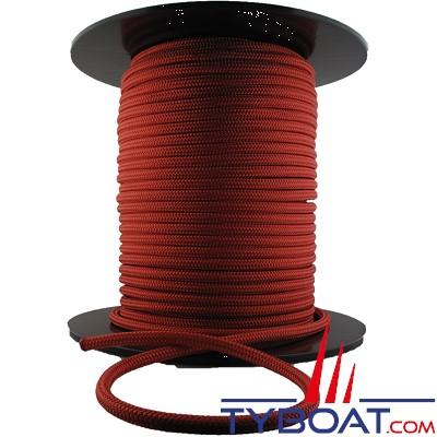 MaloMotion - Cezembre cordage Polyester 24 Fuseaux - Ø  4 mm - Rouge (au mètre)