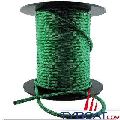 MaloMotion - Cezembre cordage Polyester 24 Fuseaux - Ø  5 mm - Vert (au mètre)