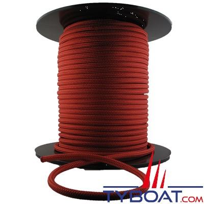 MaloMotion - Cezembre cordage Polyester 24 Fuseaux - Ø  6 mm - Rouge (au mètre)