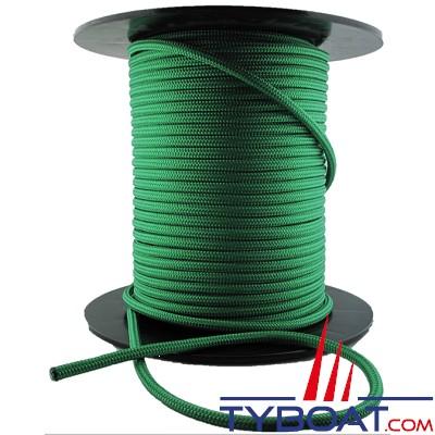 MaloMotion - Cezembre cordage Polyester 24 Fuseaux - Ø  6 mm - Vert (au mètre)