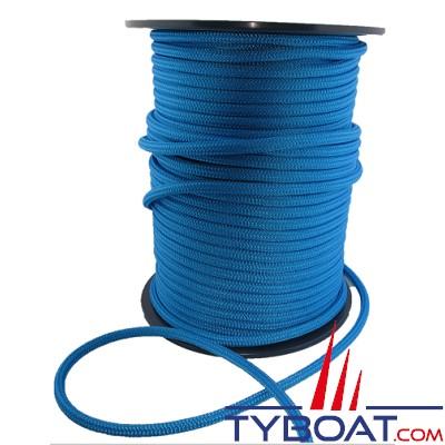 MaloMotion - Cezembre cordage Polyester 24 Fuseaux - Ø  8 mm - Bleu (au mètre)