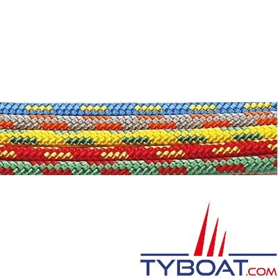 MaloMotion - Dinghymotion polyester - Ø  5 mm - Bleu/jaune (à la bobine de 100 mètres)