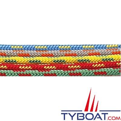 MaloMotion - Dinghymotion polyester - Ø  5 mm - Vert/Rouge (à la bobine de 100 mètres)