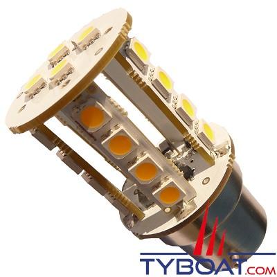 MANTAGUA - Ampoule à led 25w - bay15d - blanc chaud - 360°