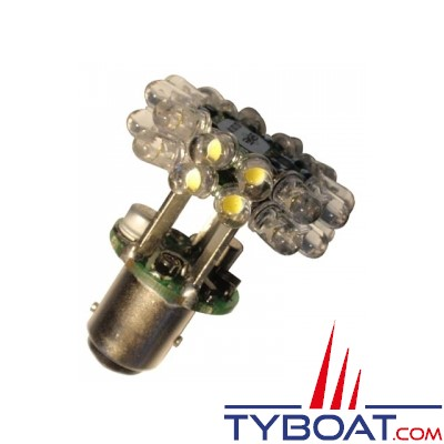 Mantagua - Ampoule de navigation à led - BAY15D - 2,4 Watts - 9/30 Volts - Blanc - 3MN