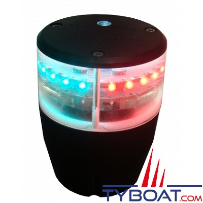 MANTAGUA - Feu à LED 2MN Tricolore + Mouillage + Stroboscopique + Jour/Nuit + Windex - 9 à 30 Volts