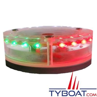 MANTAGUA - Feu horizontal 2mn bicolore (vert/rouge 112,5°) - tête en haut - compétition - avec socle