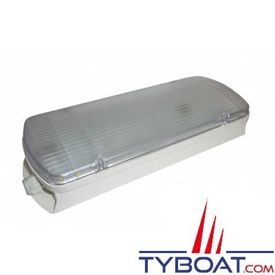 MANTAGUA - KELLER - Plafonnier LED étanche IP65 équivalent fluo 22 Watts - 24 Volts