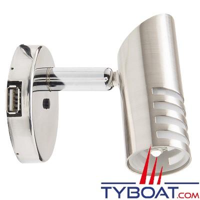 Mantagua - Liseuse belle ile avec interrupteur & prise usb - 10w - blanc chaud - 1 led g4 - 90°