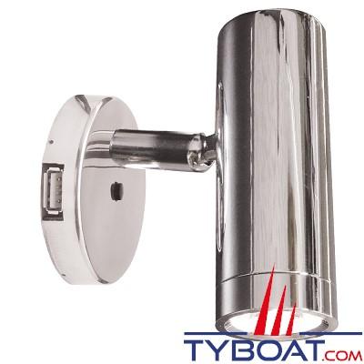 Mantagua - Liseuse tibidy avec interrupteur & prise usb - 20w - blanc chaud - 40°