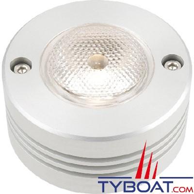 MANTAGUA - Spot éclairage led blanc froid pour barre de flèche - 30 Watts - Eclairage : 25° - INOX