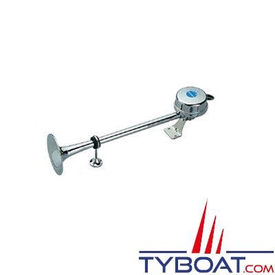 Avertisseur électrique avec trompette en laiton chromé 24V 112db