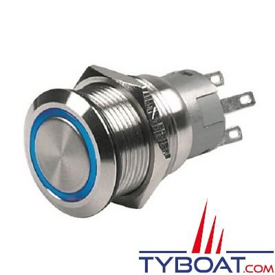 Hella Marine - Bouton poussoir à LED bleue - 12V - on/off série 8455