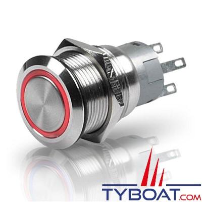 Marinco - Bouton poussoir à LED rouge - 12V - on/off série 8455