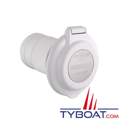 Marinco - Prise de bord plastique étanche 2 pôles + terre - 230 Volts 32 Ampères