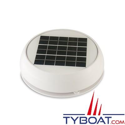 Marinco - Ventilateur solaire Jour/Nuit avec batterie - Ø 215 mm - Débit max 28 m3/heure