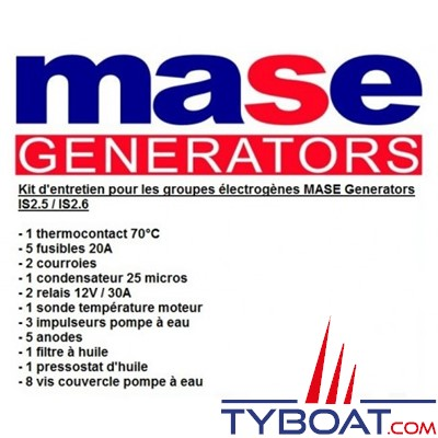Mase generators - Kit d'entretien pour groupe électrogène IS 2.5-2.6