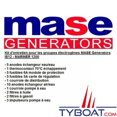 Mase Generators - Kit entretien IS12 - MARINER 1200
