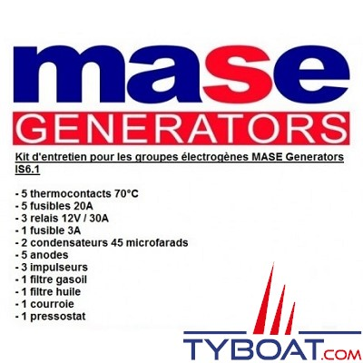 Mase generators - Kit entretien IS6.1