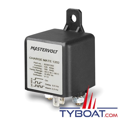Mastervolt - 83301202 - Coupleur Charge Mate 12/24 Volts - 120 Ampères - IP21