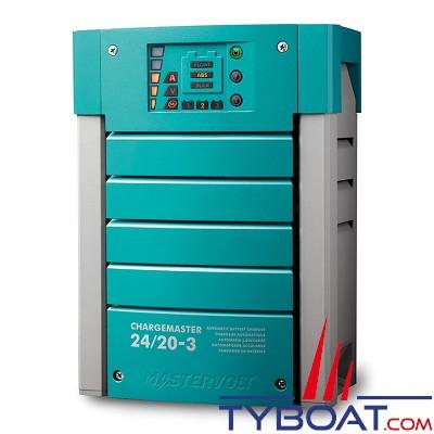Mastervolt - Chargeur électronique de batterie - CHARGEMASTER 24/20-3 - 24 Volts - 20 Ampères - 3 sorties