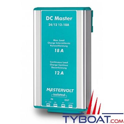 MASTERVOLT - Convertisseur DC/DC - DC MASTER 24/12-12A - Isolé - 24 Volts - 164 Watts - 12 Ampères