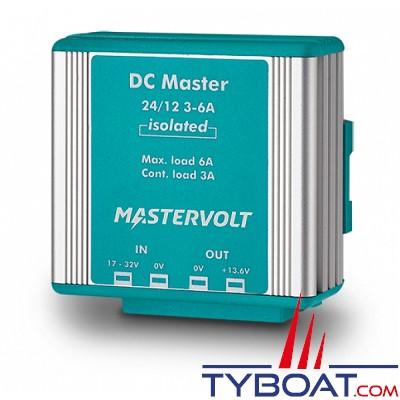 MASTERVOLT - Convertisseur DC/DC - DC MASTER 24/12-3A - Isolé - 24 Volts - 41 Watts - 3 Ampères
