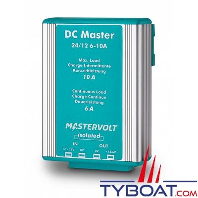 MASTERVOLT - Convertisseur DC/DC - DC MASTER 24/12-6A - Isolé - 24 Volts - 82 Watts - 6 Ampères