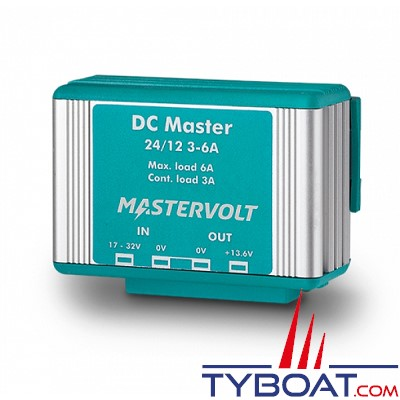 MASTERVOLT - Convertisseur DC/DC - DC MASTER 24/12-3A - 24 Volts - 41 Watts - 3 Ampères