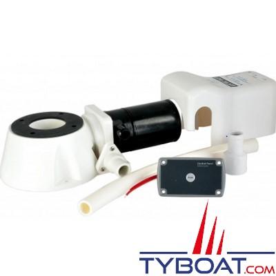 Matromarine - Kit pour convertir un WC manuel en électrique avec visserie, tuyau, joints - 24 Volts