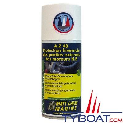Matt Chem Marine - A.Z.48 - Protection hivernale des parties externes du moteur HB - Aérosol 150 ml