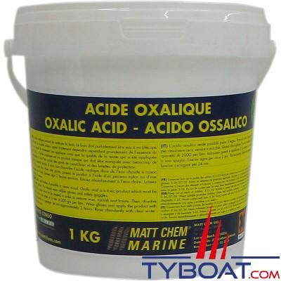 MATT CHEM - Acide Oxalique - Nettoyant pour bois - 1kg