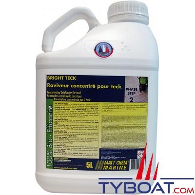 MATT CHEM - BRIGHT TECK - Raviveur concentré pour Teck - Phase2 - 5 litres