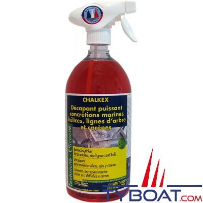 MATT CHEM - CHALKEX - Décapant helices, lignes d'arbres et carenes pour concrétions marines - Spay 1 litre