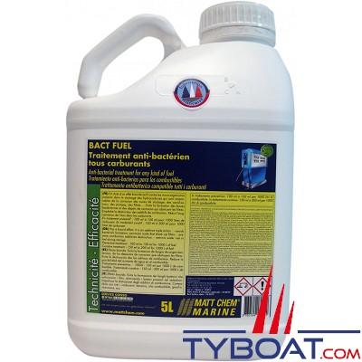 Matt Chem Marine - BACT FUEL - Traitement anti-bactérien compatible tous carburants - bidon 5 litres
